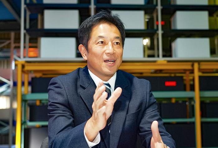 同じところに両社の顧客のニーズがあったと話す川口社長