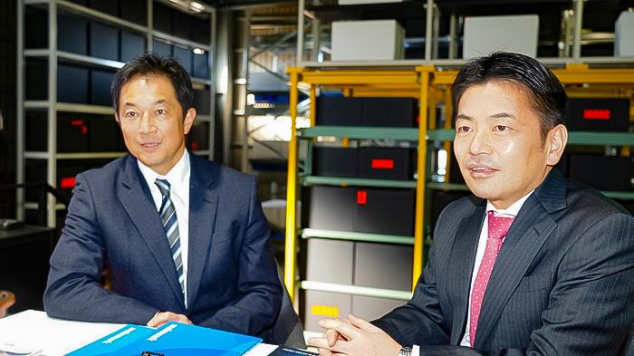 川口太社長(左)斉藤力丸社長(右)
