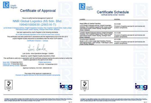 20200120nishitetsu 520x356 - 西鉄/マレーシア法人が航空宇宙品質マネジメント規格取得