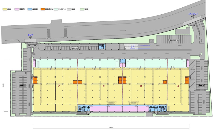 20200131esr5 - ESR/川崎市川崎区夜光の好立地に7.8万m2の物流施設を開発
