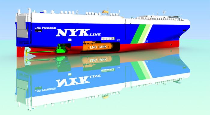 LNG燃料自動車専用船イメージ