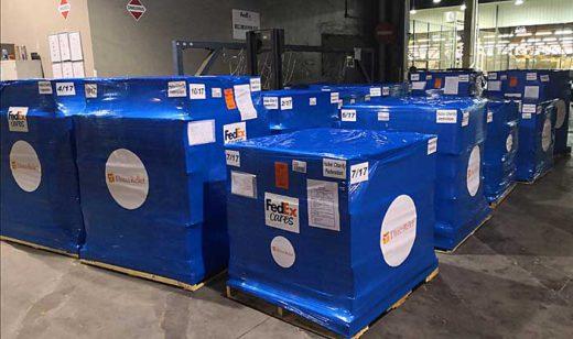 20200205fedex1 520x308 - フェデックス/新型肺炎対策の救援物資が中国に到着