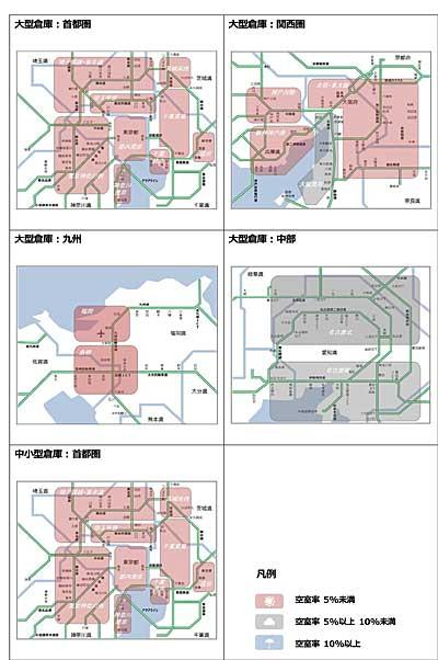 20200206cre - CRE/10~12月期の大型倉庫空室率、首都圏1%台に