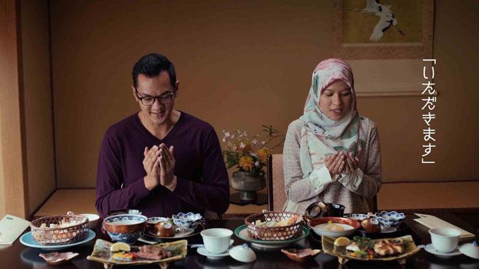 新テレビコマーシャル「世界日通。ハラール篇」旅館での食事の様子