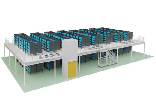 20200319logias1 520x368 - ロジアスジャパン/階高を有効活用できる棚搬送AGVシステム発売