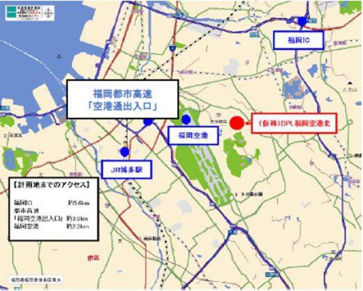 20200306daiwa1 520x417 - 大和ハウス/九州道「福岡IC」周辺に3.1万m2物流施設