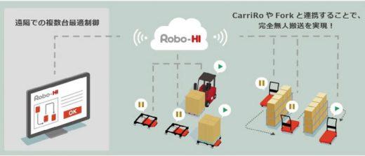 20200319zmp 520x223 - ZMP/物流支援ロボットCarriRoに複数台最適制御機能