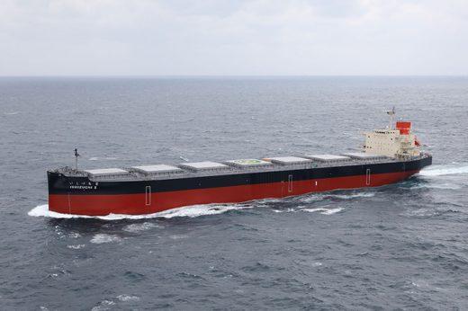 20200525namura 520x346 - 名村造船所/8.5万トン型ばら積み船「ISHIZUCHI II」引渡し