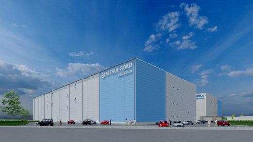 2021年6月竣工予定の関東P&MセンターⅡ(仮称)の完成予想図