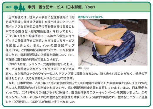 20200625yper 520x371 - Yper/環境白書に日本郵便との置き配サービス事例掲載