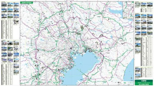 地図裏面スキャンイメージ:首都圏の物流施設