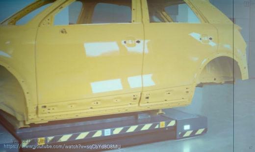 海外事例の紹介、車体そのものもAGVで移動
