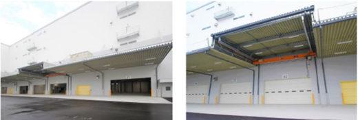 トラックバース(左)と天井クレーン