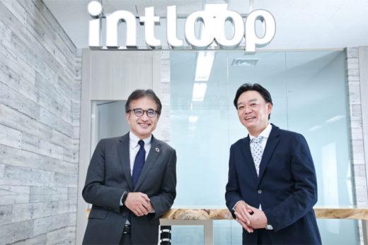 INTLOOPの林 博文代表取締役(写真右)と三井倉庫サプライチェーンソリューションの関取 高行社長(写真左)