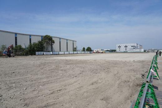 8月7日時点の建設予定地