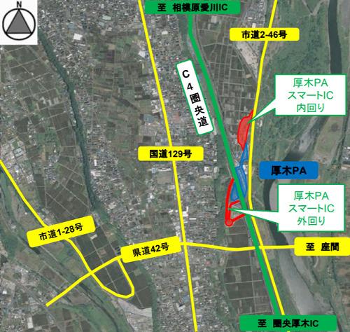 20200828nexco - NEXCO中日本/圏央道「厚木PAスマートIC」が9月26日開通