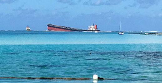 座礁・油濁事故を起こしたWAKASHIO