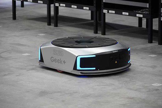 佐川GL蓮田営業所に導入したGeek社製のAGV