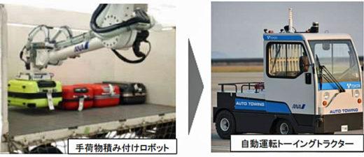 20200925ana1 520x225 - ANA/積み付けロボットと自動運転トーイングトラクターを接続