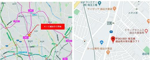 周辺図(左)と現地拡大図