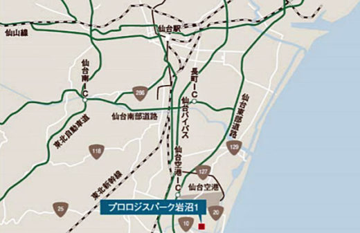 20201021nihonprologis2 520x337 - 日本プロロジスリート/火災減失プロロジスパーク岩沼1を再開発