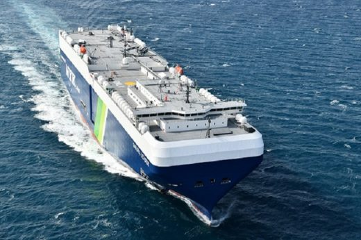 20201028nyk1 520x345 - 日本郵船/LNG燃料自動車船「SAKURA LEADER」が竣工
