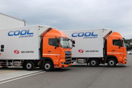 大型ハイブリット冷凍車(日野自動車製)