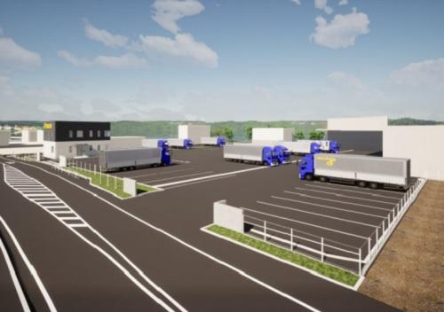 20201116trancom - トランコム/静岡県にダブル連結トラック対応の中継輸送拠点