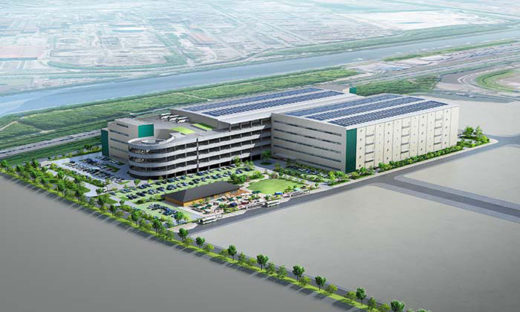 「プロロジス東海太田川プロジェクト」として計画中の物流施設完成イメージパース