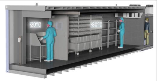 L&R社の医薬用ウォークイン冷凍庫