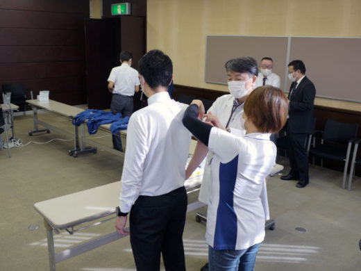 大垣本社では約250人が接種を受けた