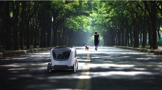 屋外で自動運転できる無人小売車
