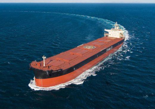 20210118mes 520x367 - 三井E&S造船/8.7万トン型ばら積み船「OCEAN JADE」引渡