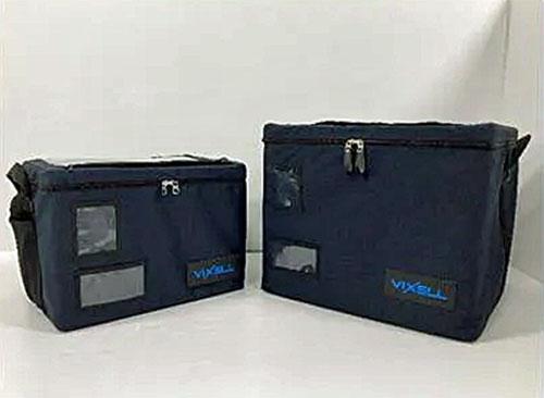 真空断熱ボックス「VIXELL」右が120ℓタイプ、左が57ℓタイプ