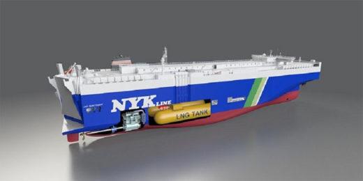 20210212nyk 520x260 - 日本郵船/LNG燃料自動車専用船4隻の建造契約を締結