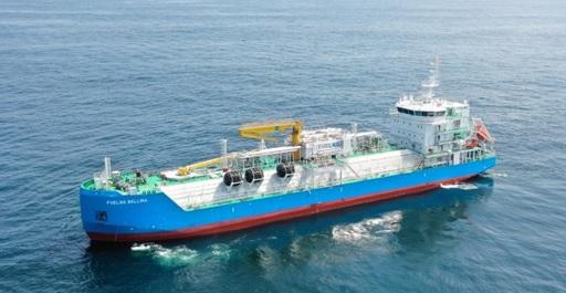 20210224kawasakikisen - 川崎汽船/シンガポール初のLNG燃料供給船の船舶管理を開始