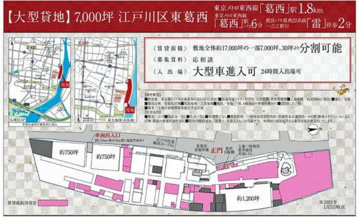20210308araip2 520x315 - アライプロバンス/工場跡地賃貸募集、葛西橋西詰に赤い看板