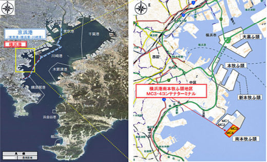 20210311yokohama1 520x317 - 横浜市/横浜港南本牧ふ頭CTに世界最大級のコンテナ船入港