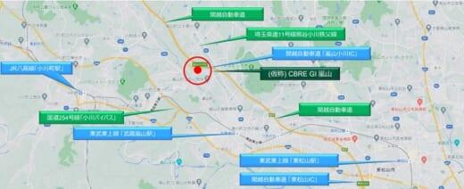 20210401cbregi 520x212 - CBRE GI/埼玉県比企郡嵐山町に11万m2物流施設建設