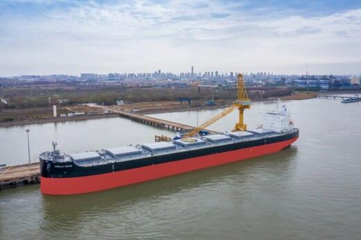20210401kawasaki 520x346 - 川崎重工/ばら積運搬船「STELLA NAVIS」引き渡し