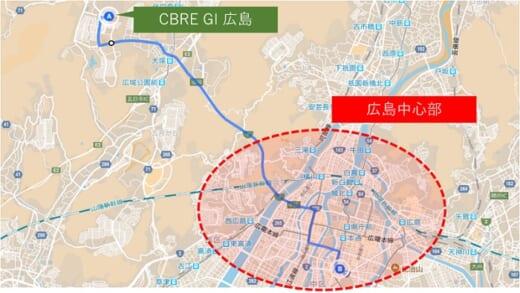 20210405glr1 520x293 - GLR/広島・西風新都で「(仮称)CBRE GI広島」内覧会