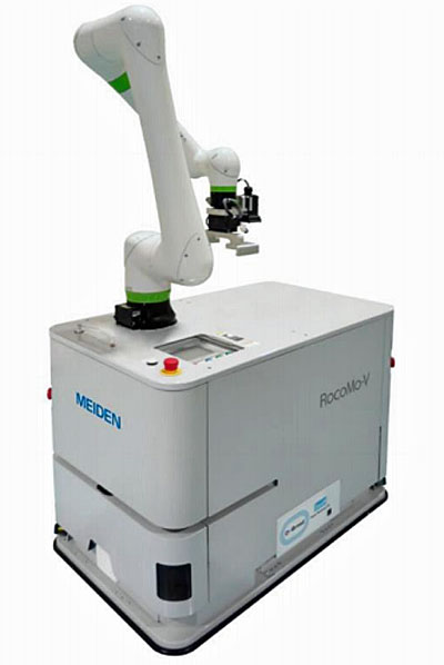 20210408meiden - 明電舎/協働ロボット搭載形無人搬送車新モデル販売開始