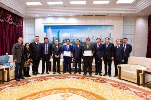 20210415nittsu2 520x346 - 日通/東アジアブロック地域総括、西安市名誉市民の称号授与