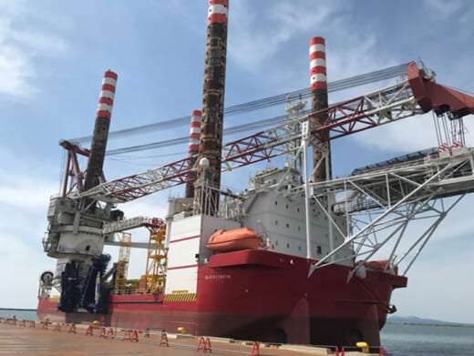 20210428mol 520x391 - 商船三井/秋田港・能代港洋上風力発電基礎の据付を開始
