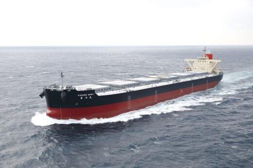 20210428namurazosen 520x346 - 名村造船所/10万トン型ばら積み運搬船「KAGAWA MARU」竣工