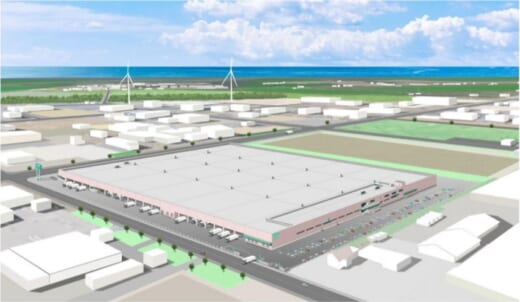 20210512nitori 520x302 - ニトリ/北海道石狩市に平屋7.7万m2の新物流センター