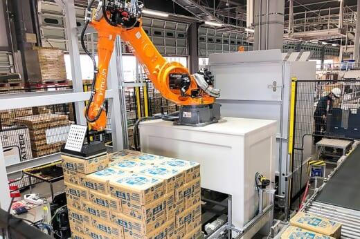 20210531nichirei 520x346 - ニチレイロジ/MujinのAIデパレタイズロボット導入