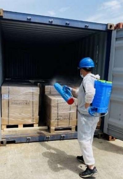 20210616nittsu - 日通/上海で海上貨物へのコロナ対応型消毒サービス開始