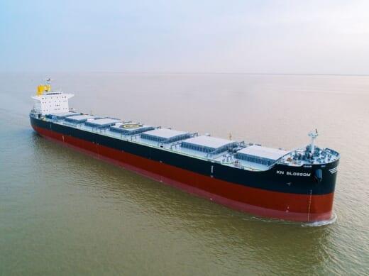 20210622kawasaki 520x389 - 川崎重工/82型ばら積船 「KN BLOSSOM」を引き渡し