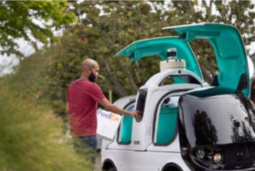 20210623fedex 520x350 - フェデックス/Nuroと提携、自動配送車でラストマイル物流推進